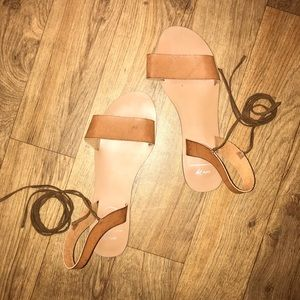 Shoes - LACE UP SANDALS